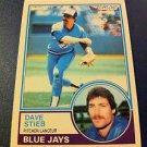 MLB DAVE STIEB OPC, O-PEE-CHEE CARD #130 1983, TORONTO BLUE JAYS NRMNT- MINT, NR