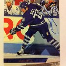 NHL TODD GILL AUTOGRAPHED 1993-94 FLEER ULTRA CARD #77 TORONTO MAPLE LEAFS NRMNT