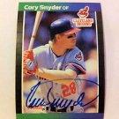 MLB CORY SNYDER AUTOGRAPHED DONRUSS CARD #191,1989 CLEVELAND INDIANS NRMT