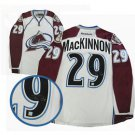 NHL Nathan MacKinnon Autographed Colorado Avalanche White Replica Jersey