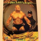WWE WWF ABSOLUTE DIVAS PARTNERSHIPS BROCK LESNAR/HEYMAN NMT-MINT, FLEER 2002