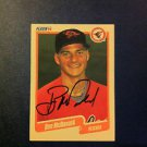 BEN MCDONALD 1990 FLEER AUTOGRAPHED ROOKIE CARD #180, MLB, BASEBALL MINT