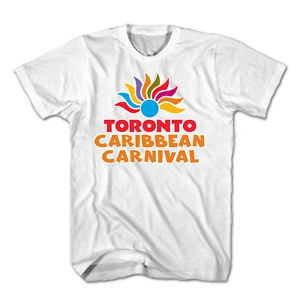 TORONTO CARIBBEAN CARNIVAL T-SHIRT, OFFICIAL MERCHANDISE, NEW, WHITE, SIZE LARGE