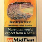 OKLAHOMA CITY 89ERS 1996 POCKET SCHEDULE, BASEBALL, TRIPLE A, REDHAWKS