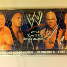 WWE WRESTLING 2004, 16-MONTH PLANNING CALENDAR, LESNAR, THE ROCK, ANGLE,RVD