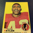 NFL CHARLEY TAYLOR CARD #67, 1969, TOPPS, WASHINGTON REDSKINS, FOOTBALL, NMNT