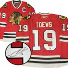 NHL Jonathan Toews Autographed Chicago Blackhawks Red Replica Jersey