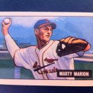 MARTY MARION, 1951 BOWMAN #34 REPRINT (1986) EX-NMT, BASEBALL