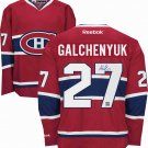 NHL Alex Galchenyuk Autographed Montreal Canadiens Red Replica Jersey