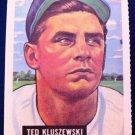 TED KLUSZEWSKI, 1951 BOWMAN GUM INC. #143 DOVER REPRINT EX-NMT, BASEBALL