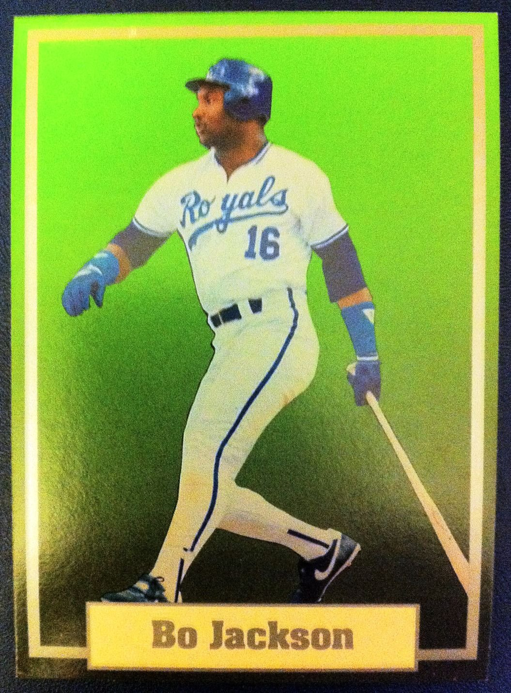 BO JACKSON SAMPLE CARD, KANSAS CITY ROYALS, MLB,SUPER STAR ELITE 1989-90, 001