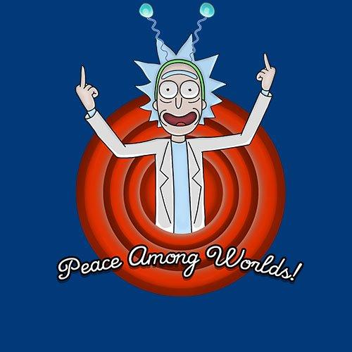 Rick and Morty - Peace among worlds!!! t-shirt