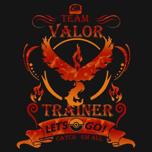 POKEMON - TEAM VALOR!!! t-shirt