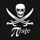 Pi-rate nerdy pirate t-shirt