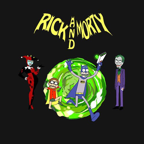 Rick and Morty - Batman With joker and harley!!! t-shirt