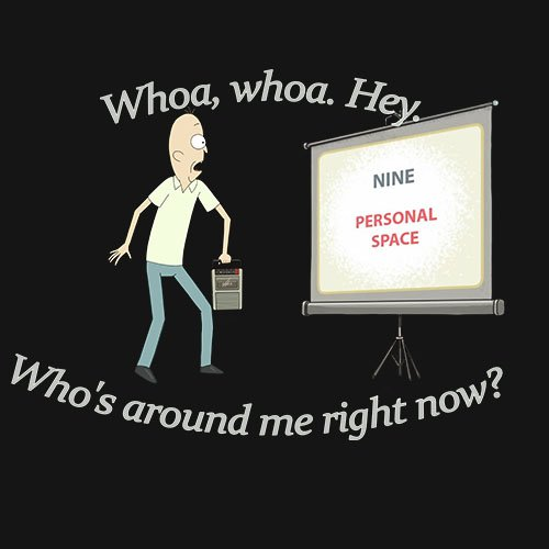Rick and Morty - personal space!!! t-shirt - www.shirtdorks.com
