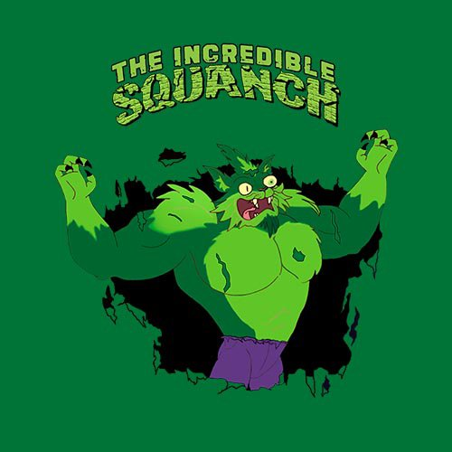 Rick and Morty - SQUANCHY HULK!!! t-shirt- www.shirtdorks.com
