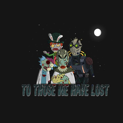 Rick and Morty - The dead!!!- www.shirtdorks.com