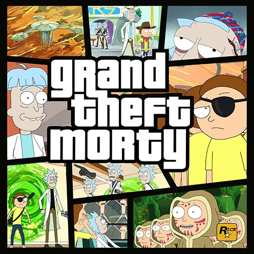 Rick and Morty -GRAND THEFT MORTY!! t-shirt- www.shirtdorks.com