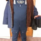 USSR Soviet Pilot Air Force Fur coat Winter Jacket 1975+ Suit Pants Gifted