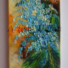 Forget Me Not Original Oil Painting Blue Flowers Impression Bouquet Europe Artist Offer