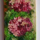 Hydrangea Original Oil Painting Impasto Pink Purple Hortensia Flowers Textured Art Europe Artist