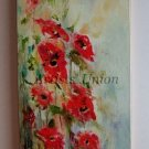 Meadow Original Oil Painting Red Poppies Poppy Fine Art Delicate Textured Linen Canvas Europe Artist