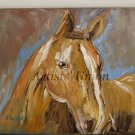 Horse Textured Original Oil Painting Expressionist Animal Portrait Impasto Palette Knife EU Artist
