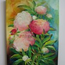 Peonies Original Oil Painting Pink White Garden Flowers Impression Fine Art Blossoms EU Artist Offer
