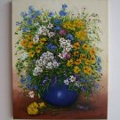 Daisies Original Oil Painting Still Life Wild Flowers Bouquet Impasto Textured Cornflowers EU Art