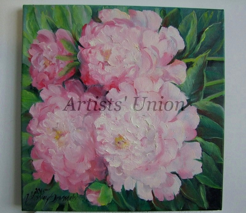 Pink Peonies Original Oil Painting Flowers Fine Art Peony Impressionism Garden Blossoms Still Life