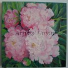 Pink Peonies Original Oil Painting Flowers Fine Art Peony Impressionism Garden Blossoms Still Life