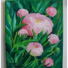 Pink Peonies Original Oil Painting Garden Flowers Peony Fine Art Impressionist Still Life Blossoms