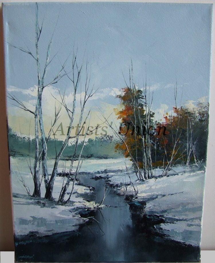 Painting Winter Trees In Oil