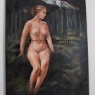 Nude Original Oil Painting Artistic Act Woman Figure Portrait Landscape Owl Forest European Fine Art