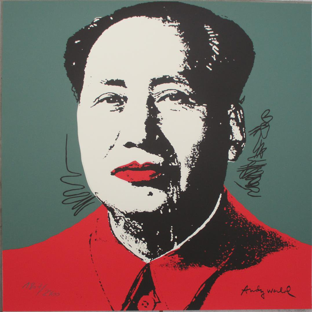 Andy Warhol lithograph MAO Zedong signed numbered print