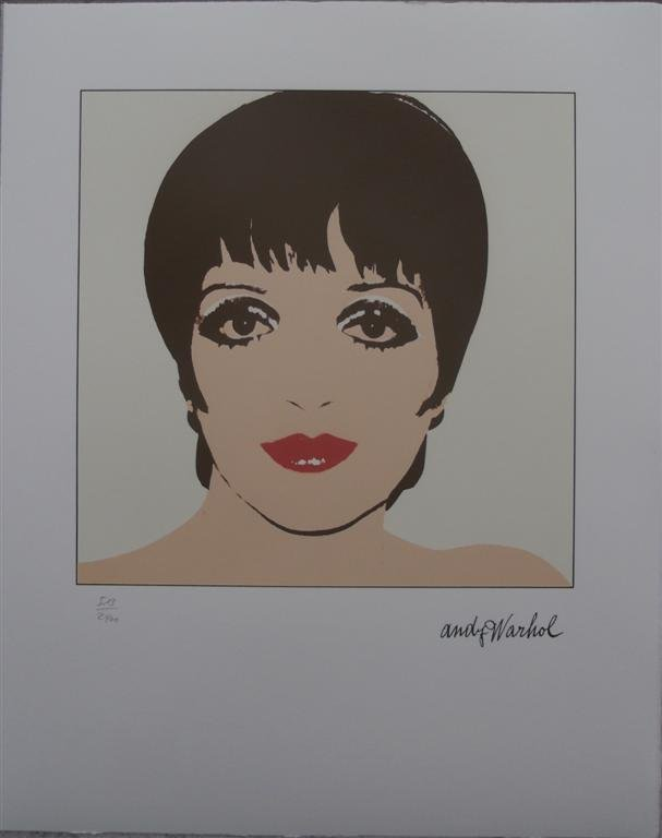 Andy Warhol authenticated lithograph Liza Minnelli