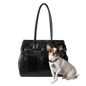 DOG CARRIER DESIGNER PET CARRIER TOTE PURSE CROCO MONACO PETS UP TO 8 LB USA