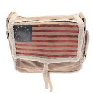 "DOG CARRIER DESIGNER SHERPA SHEEPSKIN PET BAG 15"" X 11"" MADE IN & SHIPS FROM USA"