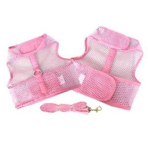 XS DOG HARNESS teacup yorkie chihuahua maltese DOG MESH HARNESS W/ LEASH SET NEW