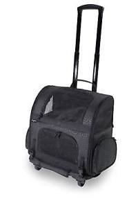 DOG CARRIER PET ROLLING CARRIER BACKPACK back pack CRATE FOR DOGS UP TO 20 LBS