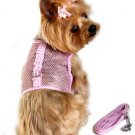 DOG HARNESS teacup yorkie chihuahua maltese DOG MESH HARNESS W/ LEASH SHIPS USA