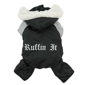 SM-MED DOG COAT poodle minpin yorkiepoo papillon bichon DOG SNOW SUIT COAT PARKA