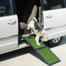"DOG RAMP SMALL PET RAMP WITH REMOVABLE POLY GRASS COMPACT steps ramps 42"" L"
