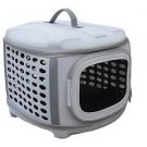 DOG CAT CARRIER KENNEL CRATE LIGHT PVC CHEW TEAR PROOF FOAM PETS UP TO 18 LBS