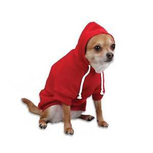 XS DOG SWEAT SHIRT chihuahua teacup yorkie tiny DOG HOODIE clothes MADE IN USA