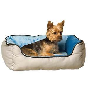 SMALL DOG OR CAT BED SELF WARMING DESIGNER K&H LOUNGE SLEEPER NEST BED 20 X 16