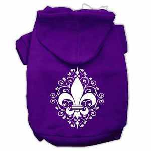 XS DOG HOODIE chihuahua teacup yorkie FLEUR DE LIS DOG SWEATSHIRT clothe US MADE
