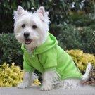 DOG SWEATSHIRT westie bichon poodle GREEN DOG HOODIE JUMPER clothes SHIPS USA