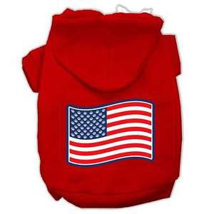 SM DOG HOODIE chihuahua yorkie toy poodle DOG US FLAG SWEATSHIRT clothe USA MADE